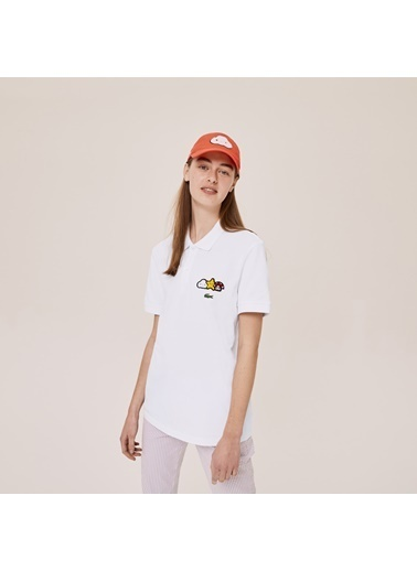 Lacoste Unisex X FriendsWithYo Tişört PH0407.001 Beyaz